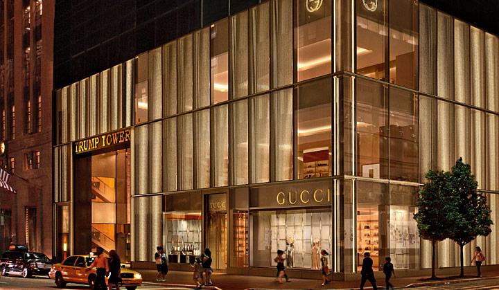 Flagship store Gucci sur la Vème Avenue à New York