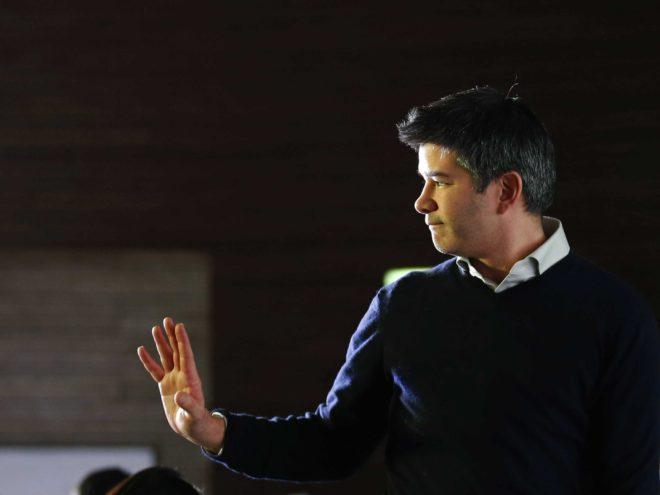 Travis Kalanick, co-fondateur et dirigeant d'Uber